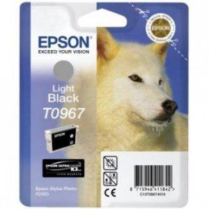 Epson oryginalny wkład atramentowy / tusz C13T09674010. light black. 13ml. Epson Stylus Photo R2880 C13T09674010
