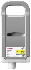 Canon oryginalny wkład atramentowy / tusz PFI706Y. yellow. 700ml. 6684B001. ploter iPF-8300 6684B001