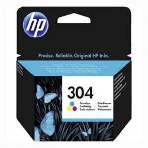 HP oryginalny ink N9K05AE, HP 304, Tri-color, 100s, HP DeskJet 2620,2630,2632,2633,3720,3730,3732,3735 N9K05AE