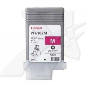 Canon oryginalny wkład atramentowy / tusz PFI102M. magenta. 130ml. 0897B001. ploter iPF-500. 600. 700 0897B001