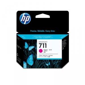HP oryginalny wkład atramentowy / tusz CZ135A. No.711. magenta. 3ž29ml. HP Deskjet T120. T520 CZ135A