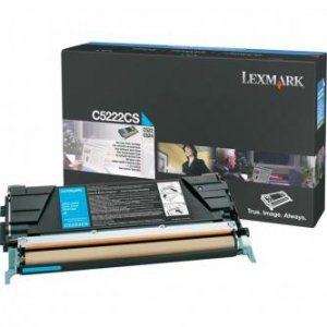 Lexmark oryginalny toner C5222CS. cyan. 3000s. Lexmark C52x. C53x C5222CS