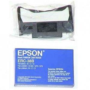 Epson oryginalny tasma do kas fiskalnych. C43S015374. ERC 38. czarna. Epson TM-300. U 375. U 210. U 220 C43S015374