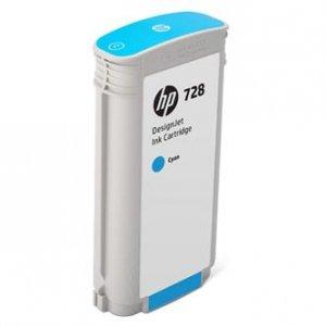 HP oryginalny wkład atramentowy / tusz F9J67A. No.728. cyan. 130ml. HP DesignJet T730. DesignJet T830. DesignJet T830 MFP F9J67A