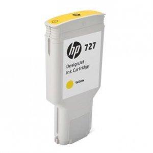 HP oryginalny wkład atramentowy / tusz F9J78A. No.727. yellow. 300ml. HP DesignJet T1530. T2530. T930 F9J78A
