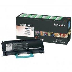 Lexmark oryginalny toner E260A11E. black. 3500s. return. Lexmark E260. E360. E460 E260A11E