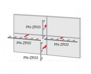 Sharp Electronics Monitor 60'' Video Wall Mirror Frame Short PNZR33