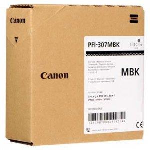 Canon oryginalny wkład atramentowy / tusz PFI307MB. matte black. 330ml. 9810B001. ploter iPF-830. 840. 850 9810B001