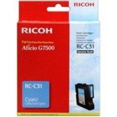 Ricoh oryginalny żelowe wypełnienie 405505. cyan. 2500s. typ RC-C31. Ricoh G7500 405505