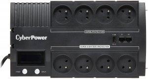 Cyber Power zasilacz awaryjny/UPS BR700ELCD-FR 420W/AVR/8 GNIAZD- 3xUPS. 3xLISTWA BR700ELCD