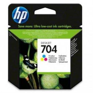 HP oryginalny wkład atramentowy / tusz CN693AE. No.704. color. 200s. 5.5 mlml. HP Deskjet 2060 CN693AE