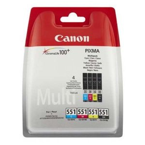 Canon oryginalny wkład atramentowy / tusz CLI551. CMYK. 4×7ml. 6509B008. Canon PIXMA iP7250. MG5450. MG6350 6509B008