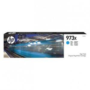 HP oryginalny wkład atramentowy / tusz F6T81AE. No.973X. cyan. 7000s. 82ml. HP PW Managed MFP P57750dw. P55250dw.PW Pro 452dn.477 F6T81AE