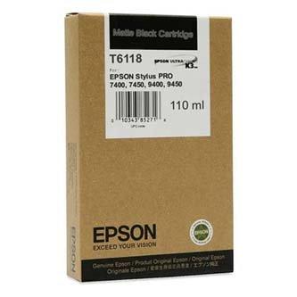 Epson oryginalny wkład atramentowy / tusz C13T611800. matte black. 110ml. Epson Stylus Pro 7400. 7450. 7800. 7880. 9400. 9800. 988 C13T611800