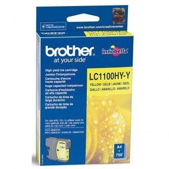 Brother oryginalny wkład atramentowy / tusz LC-1100HYY. yellow. 750s. high capacity. Brother DCP-6690CW. MFC-6490CW LC1100HYY