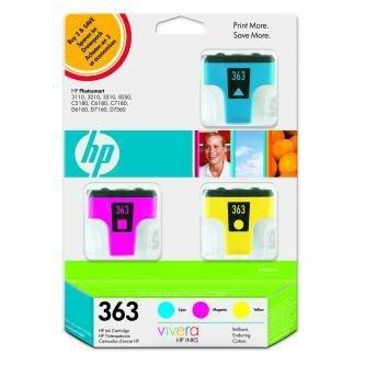 HP oryginalny wkład atramentowy / tusz CB333EE. No.363. cyan/magenta/yellow. 3szt. HP Designjet Z3100 CB333EE