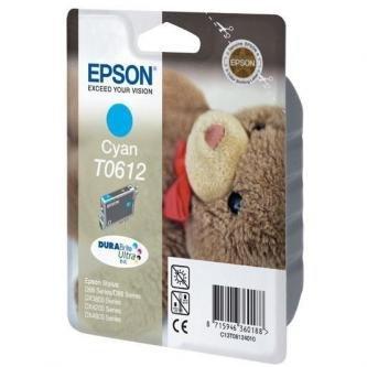 Epson oryginalny wkład atramentowy / tusz C13T06124010. cyan. 250s. 8ml. Epson Stylus D68PE. 88. DX3850. 4200. 4250. 4850 C13T06124010