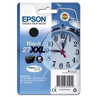 Epson oryginalny wkład atramentowy / tusz C13T27914012. 27XXL. black. 34.1ml. Epson WF-3620. 3640. 7110. 7610. 7620 C13T27914012