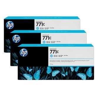 HP oryginalny wkład atramentowy / tusz B6Y36A. No.771C. light cyan. 3szt. HP Designjet Z6200 B6Y36A