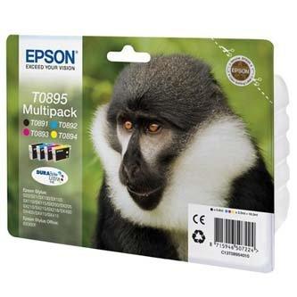 Epson oryginalny wkład atramentowy / tusz C13T08954020. CMYK. 3x3.5/5.8ml. Epson Stylus S20. SX100. SX200. SX400 C13T08954020