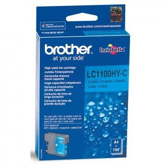 Brother oryginalny wkład atramentowy / tusz LC-1100HYC. cyan. 750s. high capacity. Brother DCP-6690CW. MFC-6490CW LC1100HYC