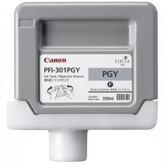 Canon oryginalny wkład atramentowy / tusz PFI301PGY. photo grey. 330ml. 1496B001. ploter iPF-8000. 9000 1496B001