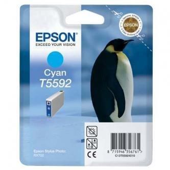 Epson oryginalny wkład atramentowy / tusz C13T55924010. cyan. 13ml. Epson Stylus Photo RX700 C13T55924010