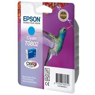 Epson oryginalny wkład atramentowy / tusz C13T08024011. cyan. 7.4ml. Epson Stylus Photo PX700W. 800FW. R265. 285. 360. RX560 C13T08024011