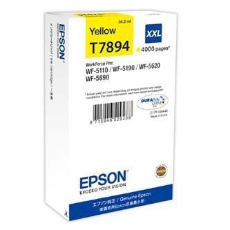 Epson oryginalny wkład atramentowy / tusz C13T789440. T789. XXL. yellow. 4000s. 34ml. 1szt. Epson WorkForce Pro WF-5620DWF. WF-5110DW. WF-5690DWF C13T789440