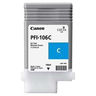 Canon oryginalny wkład atramentowy / tusz PFI106C. cyan. 130ml. 6622B001. ploter iPF-6300 6622B001