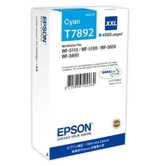 Epson oryginalny wkład atramentowy / tusz C13T789240. T789. XXL. cyan. 4000s. 34ml. 1szt. Epson WorkForce Pro WF-5620DWF. WF-5110DW. WF-5690DWF C13T789240