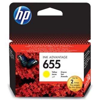 HP oryginalny wkład atramentowy / tusz CZ112AE#BHK. No.655. yellow. 600s. HP Deskjet tusz Advantage 3525. 5525. 6525. 4615 e-AiO CZ112AE