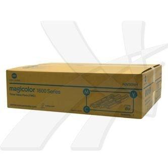Konica Minolta oryginalny toner A0V30NH. cyan/magenta/yellow. 7500 (3x2500)s. Konica Minolta QMS MC1650EN. MC1650END. MC1650. 1600 A0V30NH