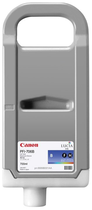 Canon oryginalny wkład atramentowy / tusz PFI706B. blue. 700ml. 6689B001. ploter iPF-8300 6689B001