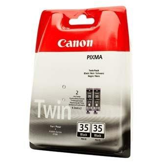 Canon oryginalny wkład atramentowy / tusz PGI35BK. black. 2x191s. 1509B012. 2szt. Canon Pixma iP100 1509B012