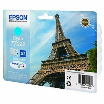 Epson oryginalny wkład atramentowy / tusz C13T70224010. XL. cyan. 2000s. Epson WorkForce Pro WP4000. 4500 series C13T70224010