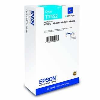 Epson oryginalny wkład atramentowy / tusz C13T755240. T7552. XL. cyan. 4000s. 39ml. 1szt. Epson WorkForce Pro WF-8590DWF C13T755240