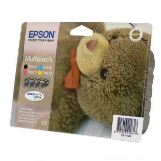 Epson oryginalny wkład atramentowy / tusz C13T061540. CMYK. 250s. 4x8ml. Epson Stylus D68PE. 88DX. 3850