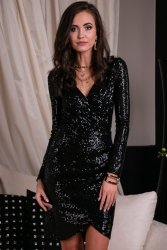 Sukienka 0265 Czarna Roco Fashion