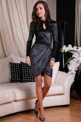 Sukienka 0264 F04 Czarna Roco Fashion