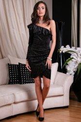 Sukienka 0263 F02 Czarna Roco Fashion