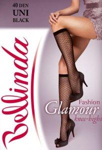 1 Podkolanówki Glamour BE212004 wzorzyste