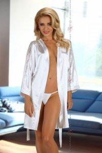 Alexandra dressing gown white szlafrok