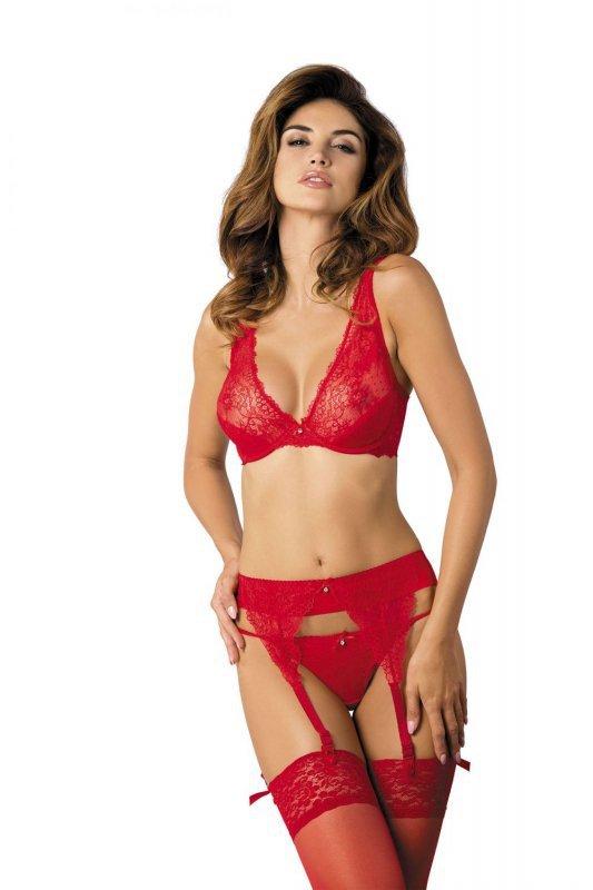 Scarlet/PPN pas do pończoch czerwony