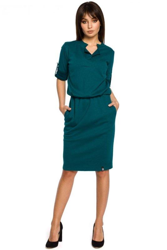 B056 sukienka zielona