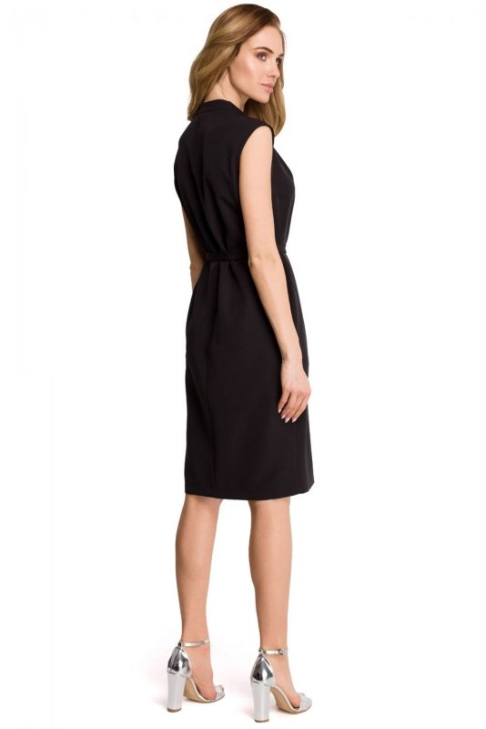 S102 Sukienka szmizjerka - czarna