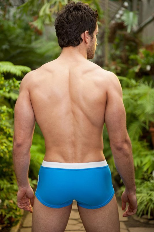 Kostium kąpielowy Alpha Male Sacco azur