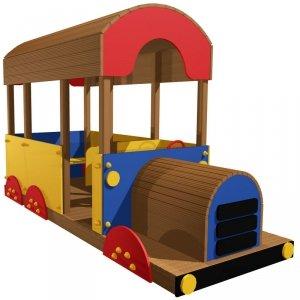 Autobus drewniany na plac zabaw
