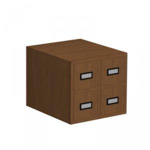 Szafka katalogowa biblioteczna, typ A, 4 szuflady