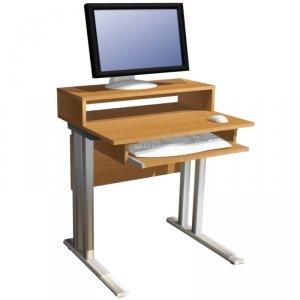 Biurko komputerowe 1-osobowe z nadstawką